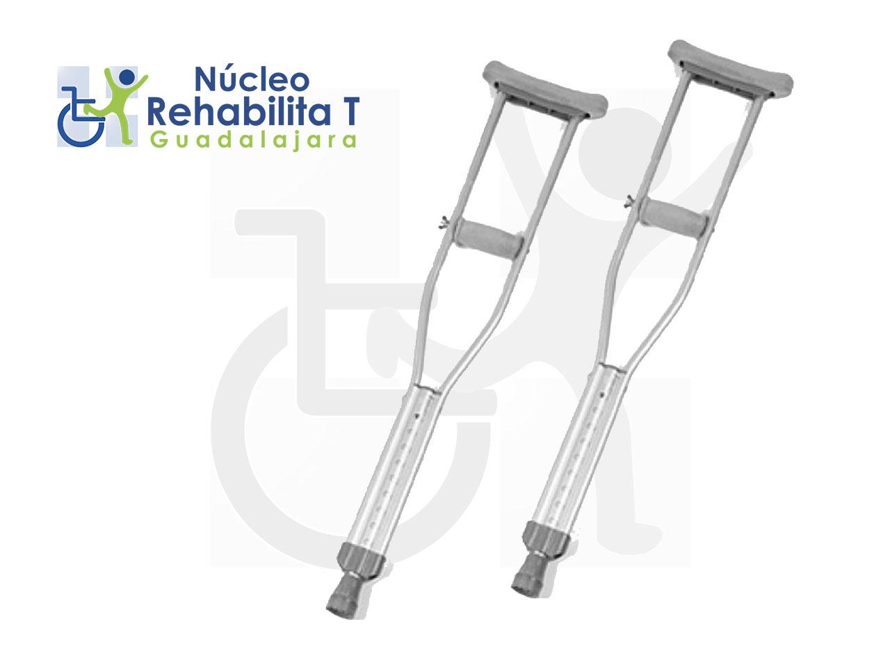 Muletas de aluminio  de altura variable