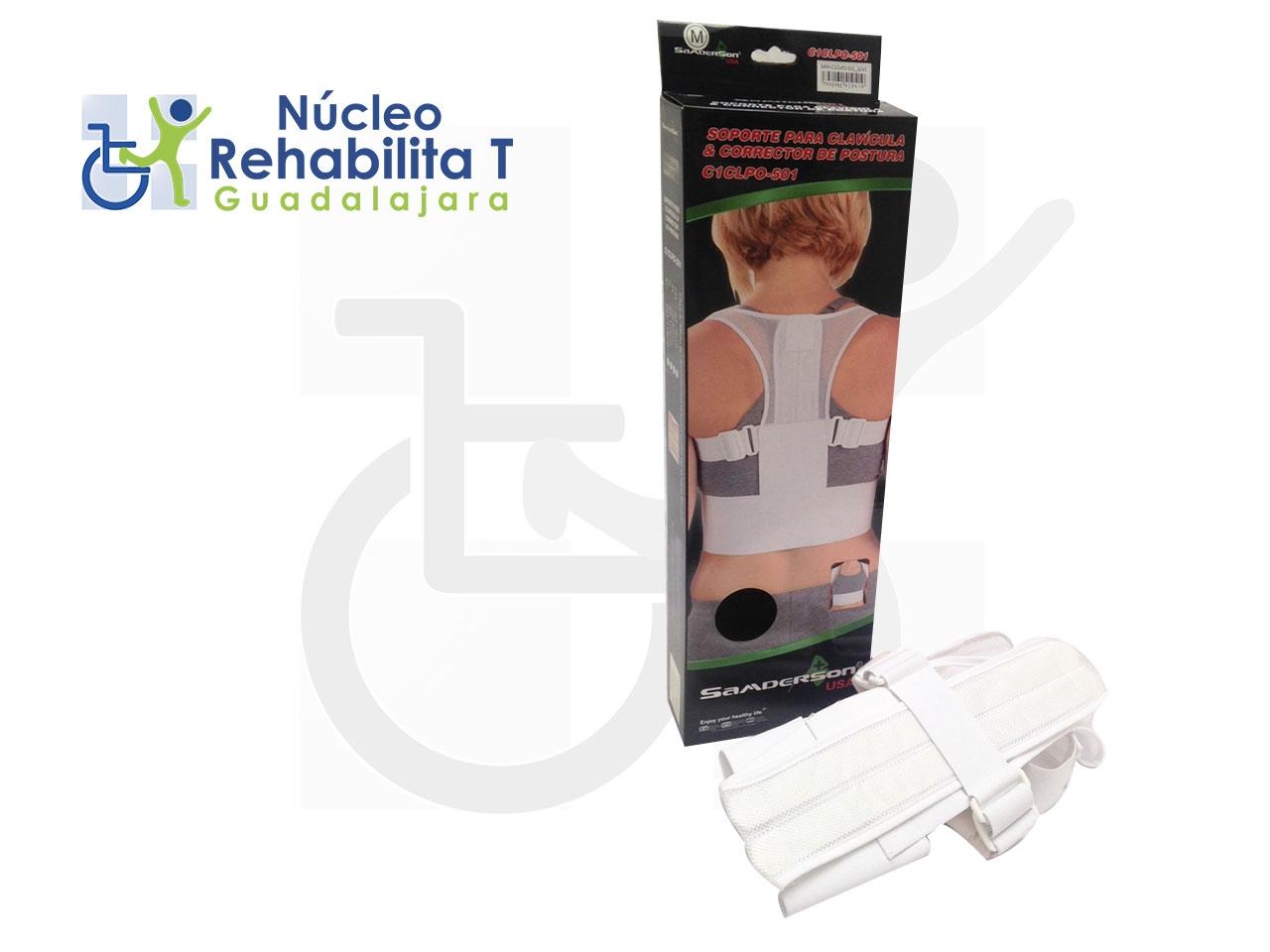Soporte para clavícula y corrector de postura.